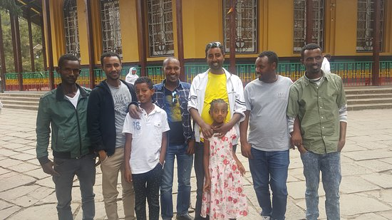 This photo is taken at Debre Birhan Holy Trinity Church located 131Km far from Addis Ababa capital city of Ethiopia. This church is among the oldest churches in Ethiopia.