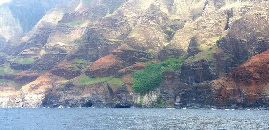 Beautiful view of Napali coastline. Thank you Captain Andy's Sunset Dinner Cruise.