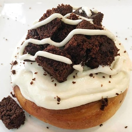 Cream Cheese Frosting with Brownie Bites