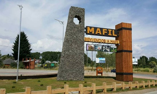Mafil, Chile: Hito de Bienvenida a la Ciudad de Máfil