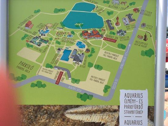 Карта всего комплекса басейнов Шошто Аквариус