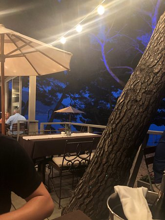Lovely setting and food
