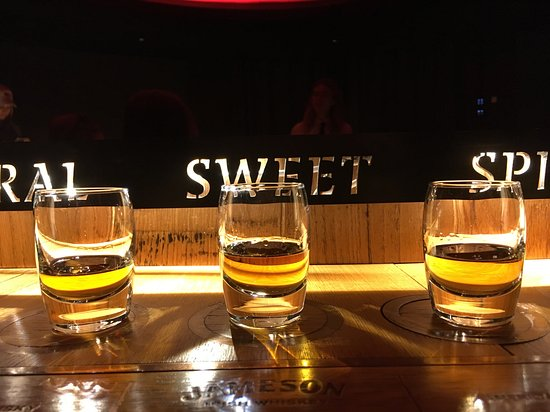 Jameson Distillery Guided Tour with Whiskey Tasting: We get to sample three, as a group, with instructions on how to maximize the flavors.