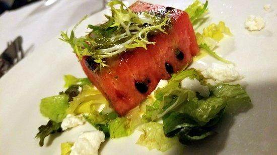 Hidden Beach Resort: Grilled watermelon with goat cheese
