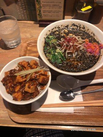 黒ごまたんたん麺&ミニ麻婆豆腐丼