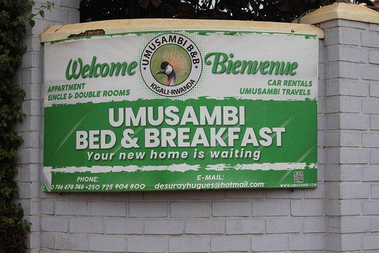 entrée de l'établissement Umusambi B&B
