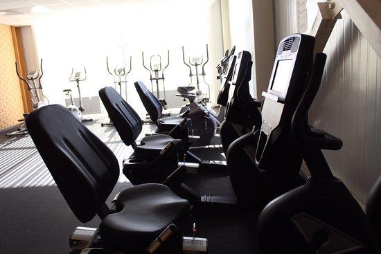 """Borovichi, Russia: Ледовый дворец """"Металлург"""" включает в себя кардио- и тренажерный зал. Каждый из спортивных залов насыщен силовыми тренажерами на все группы мышц, свободными весами."""