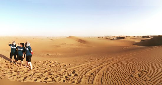 DESERT, Its a never ending view of red sand. you will not believe how fine the desert sand until it touch your feet.