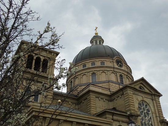 Basilica of St. Josaphat: The basilica in the spring of 2019.