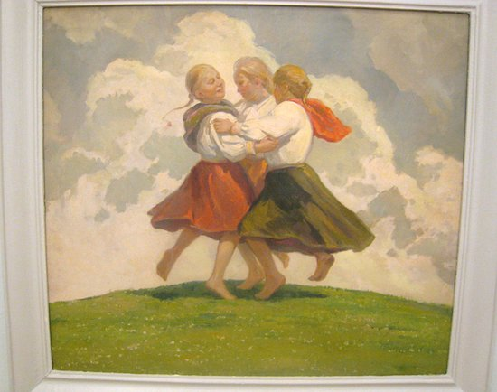 Dancing Slovak Children