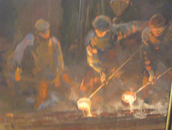 National Art Gallery: Flaming detail