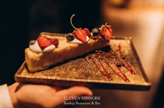 Enjoy delicious cakes at 11 Mirrors Rooftop Restaurant & Bar!