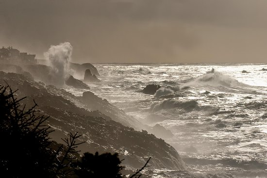 Stormwatch during the winter in Lincoln City, OR