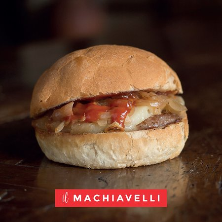 il MACHIAVELLI - cinta senese, cipolla grigliata, pecorino, salsa barbecue