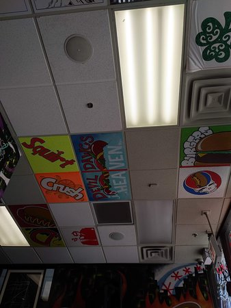 even the ceiling is fun