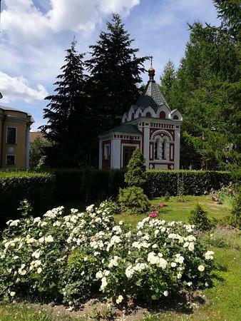 Часовня в честь 300-летия Дома Романовых, Новоспасский монастырь, июнь