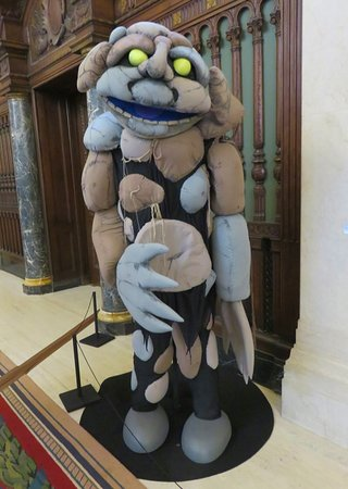 one large puppet on display