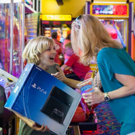 The biggest prizes are at Arcade City at The Island in Pigeon Forge!