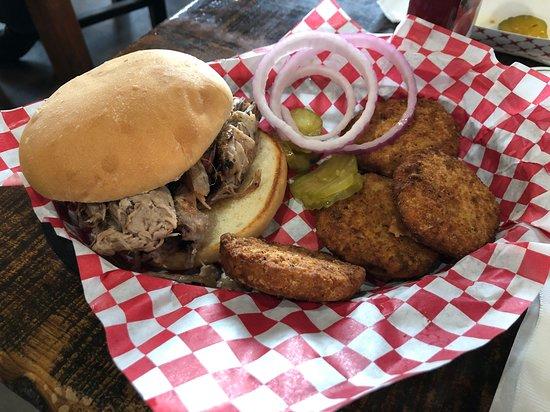 Stillwater, OK: Loved their pork bbq sandwich as well as their Hokey Pokey Pickle Bar!