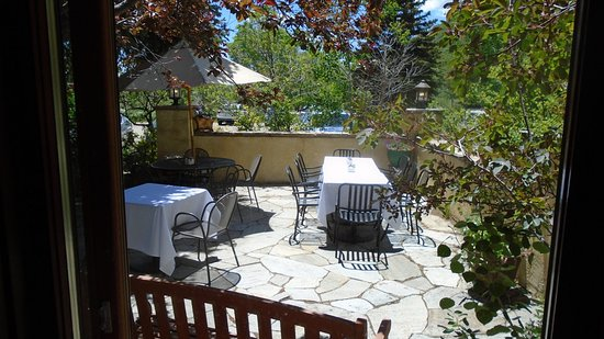 Hesperus, CO: Patio outside;  did NOT go there....