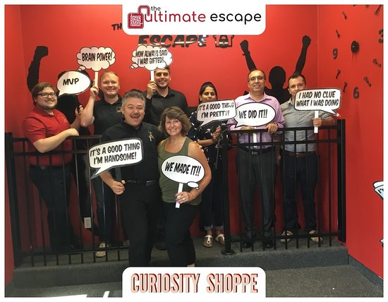 The Ultimate Escape: This is most of my Real Estate team!  We all had fun working through the puzzles.  Great for a rainy day or a day that is too hot to be outside.!