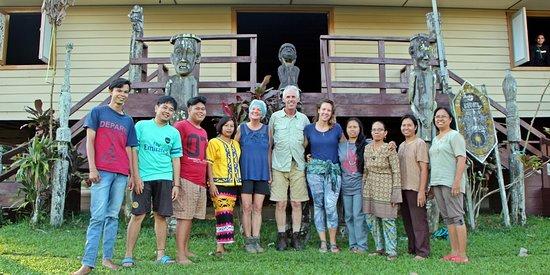 Luuq Melapeh. Long House of Dayak Tunjung Rentenukng, Melapeh Village, Linggang Bigung Sub-didtrict