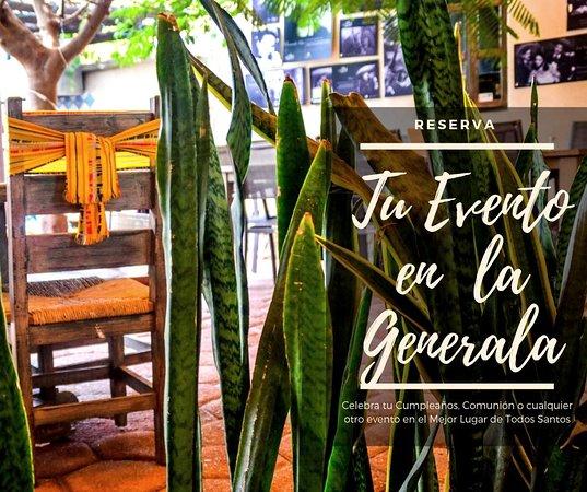 Celebra tu evento en La Generala. La mejor comida Mexican en un increíble lugar. Contáctanos para Cotizaciones.