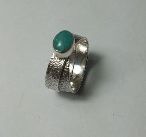 Sanur Jewellery Studio: Chakra Healing Gemstone Tarot Class for Big Groups - Amazonite and sterling silver ring