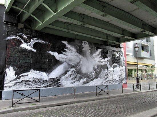 """Fresque """"Dans la tempête"""""""