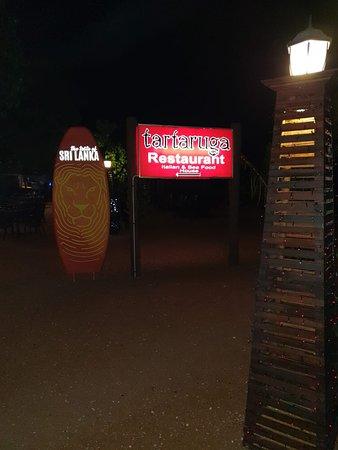 Restaurant and beach area