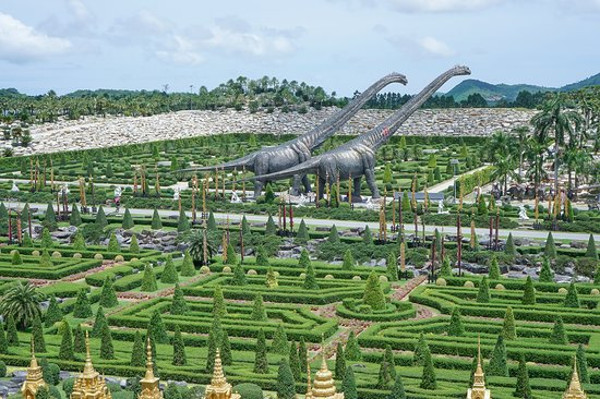 Nong Nooch Tropical Botanical Garden: View from high-path-way in the park
