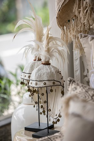 Giovanna Photography & Coffee House: Hand beaded feather warrior hat on stand