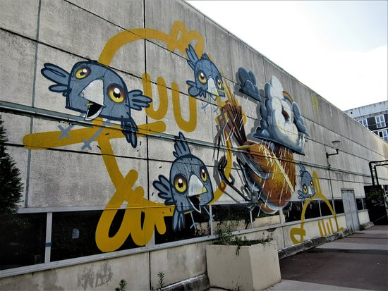"""Fresque """"Les oiseaux"""""""