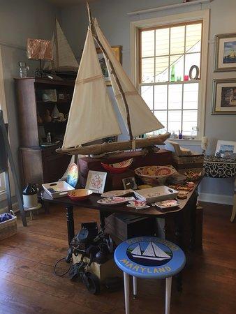 Handmade driftwood sailboats by Joan Nubie-Miscall