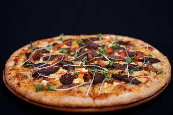 Home-made Lamb Merguez Pizza