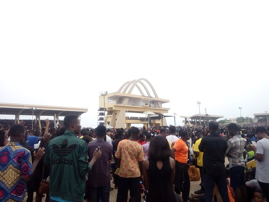 Good Friday program at the Independence Square