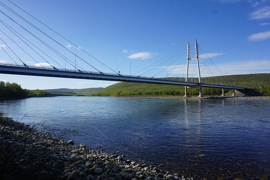 Utsjoki, Suomi: The bridge over River Tenojoki