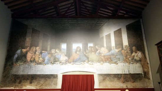 Vinci, Italy: digital reproduction of the Last Supper