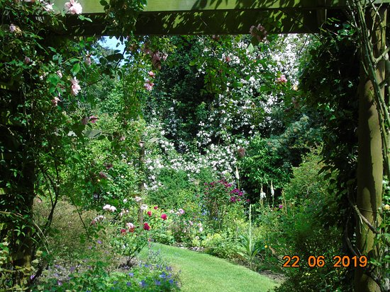 Goltho, UK: One of the gardens, lovely colours and liked how it framed for the photo