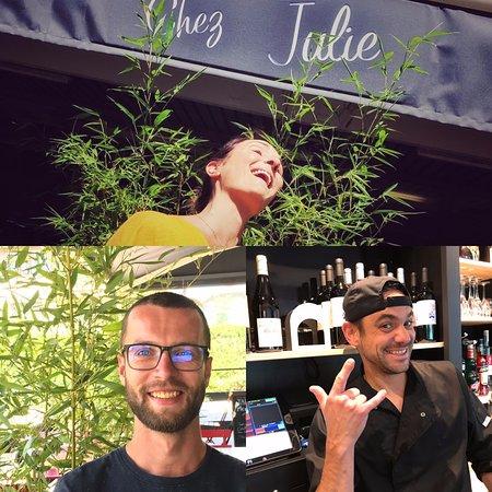 l'équipe Julie, florian notre TOP chef, Rémi notre SUPER serveur