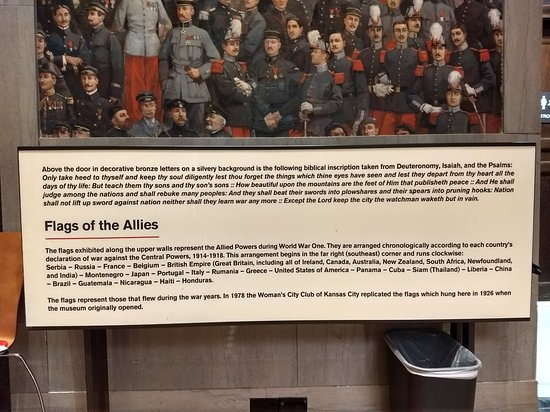 National WWI Museum and Memorial: Bible verses. Awesome!!