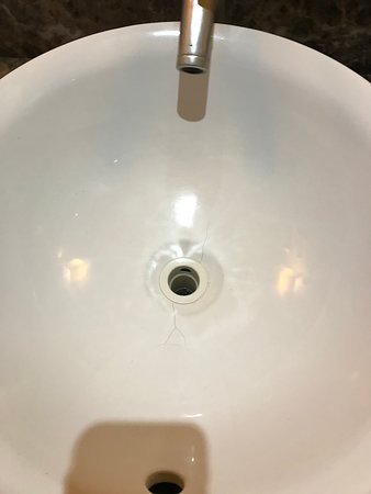 Stained sink