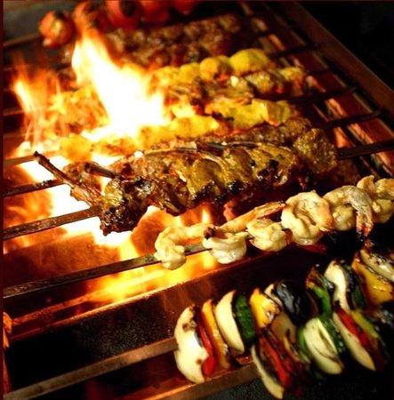 Persepolis Persian Cuisine: GRILLED KEBAB ON FIRE