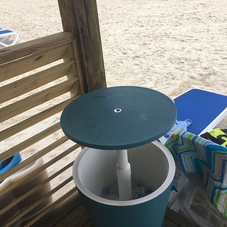 CocoCay Chill Island Cabana cooler, Lid lifts and 8 Evian iced waters included