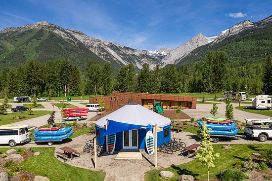 Fernie RV Resort: Our new adventure center.