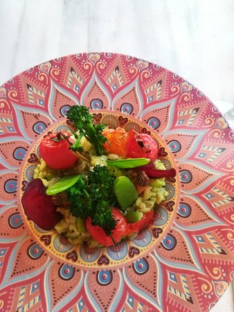 Delicious vegan meal at Castillo de monda