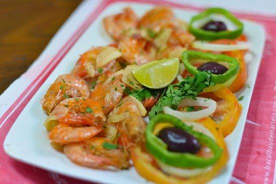 Restaurante Bacalhau De Martelo: Camarão ao alho e óleo