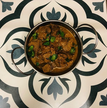 Traditional lamb curry