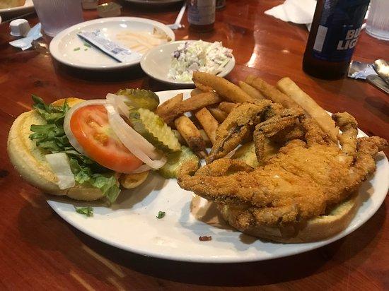 Bayou Bill's Crab House: Soft shell crab sandwich, very good!