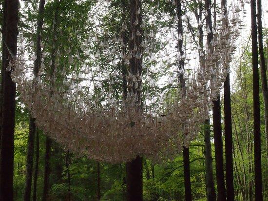 in diesem Fall nicht aus natürlichen Materialien, aber sehr schön. Je nach Wetter (Wind, Regen) klingt es - Bild 1
